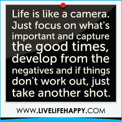 Life like a camera